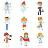 Raccolta futura di professione dei bambini Fotografia Stock Libera da Diritti