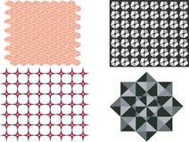 Raccolta geometrica astratta del modello, illustrazione del grafico di vettore del fondo fotografia stock