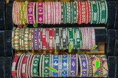 Raccolta indiana dei braccialetti Fotografia Stock Libera da Diritti