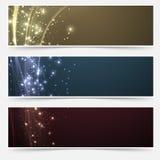 Raccolta luccicante magica luminosa delle intestazioni Fotografie Stock Libere da Diritti