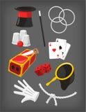 Raccolta magica dell'icona degli elementi di presentazione di manifestazione illustrazione vettoriale