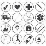 Raccolta medica di base di vettore delle icone Fotografia Stock Libera da Diritti