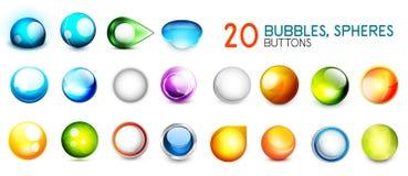 Raccolta mega dei bottoni della sfera di colore Immagini Stock Libere da Diritti
