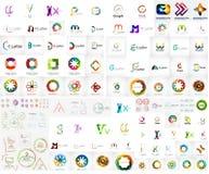 Raccolta mega di logo illustrazione di stock