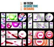 Raccolta mega enorme degli ambiti di provenienza geometrici dell'estratto di forma illustrazione vettoriale