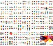 Raccolta mega enorme dei modelli di progettazione dell'insegna di web illustrazione di stock