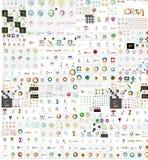Raccolta mega enorme delle icone di logo della società royalty illustrazione gratis