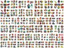 Raccolta mega enorme delle progettazioni infographic di opzione geometrica di affari, elementi di carta variopinti di progettazio illustrazione di stock