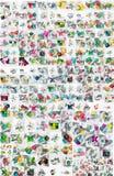 Raccolta mega enorme di carta geometrica astratta royalty illustrazione gratis