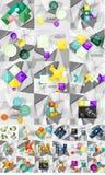 Raccolta mega enorme di carta geometrica astratta illustrazione di stock