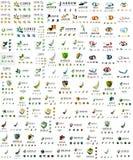 Raccolta mega enorme di logo, icona astratta di affari illustrazione vettoriale