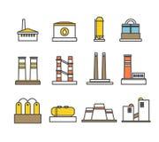 Raccolta moderna delle costruzioni della fabbrica Fotografie Stock