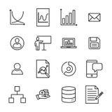 Raccolta moderna delle icone di direzione di stile del profilo Fotografia Stock
