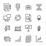 Raccolta moderna delle icone di lavoro di squadra di stile del profilo Fotografia Stock