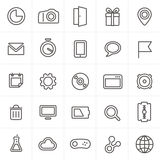 Raccolta moderna delle icone di web Immagine Stock Libera da Diritti