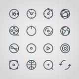 Raccolta moderna delle icone di web di media Fotografia Stock Libera da Diritti