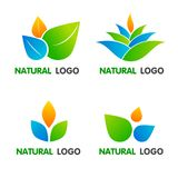 Raccolta naturale del logos royalty illustrazione gratis