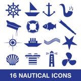 Raccolta nautica eps10 dell'icona Royalty Illustrazione gratis