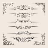 Raccolta ornamentale dei divisori illustrazione di stock
