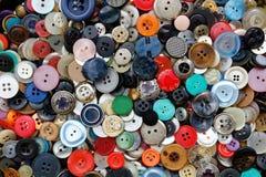 Raccolta piacevole con vecchia e struttura graziosa dei bottoni, Immagini Stock Libere da Diritti