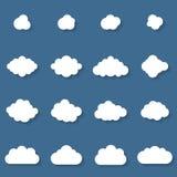 Raccolta piana dei cloudscapes di progettazione Royalty Illustrazione gratis