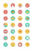 Raccolta piana di vettore delle icone con effetto ombra morbido royalty illustrazione gratis