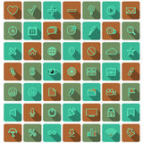 Raccolta piana moderna di vettore delle icone Fotografia Stock