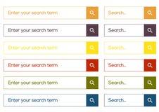Raccolta piana semplice di ricerca Immagini Stock