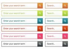 Raccolta piana semplice di ricerca Illustrazione di Stock