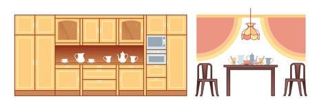 Raccolta planare della mobilia Immagini Stock