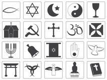 Raccolta religiosa delle icone di vettore Immagini Stock
