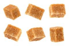 Raccolta ricoperta di paglia del cubo dello zucchero bruno Fotografie Stock Libere da Diritti