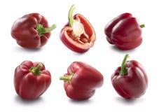 Raccolta rossa del peperone dolce per progettazione di pacchetto Fotografia Stock Libera da Diritti