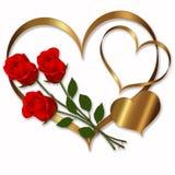 Raccolta rossa dell'oro del cuore Fotografia Stock Libera da Diritti
