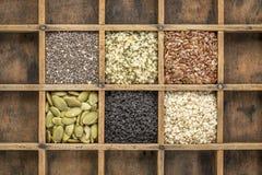 Raccolta sana del seme nel cassetto del compositore Immagine Stock