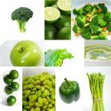 Raccolta sana verde del collage dell'alimento Fotografie Stock Libere da Diritti
