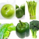 Raccolta sana verde del collage dell'alimento Fotografia Stock Libera da Diritti
