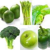 Raccolta sana verde del collage dell'alimento Immagini Stock Libere da Diritti