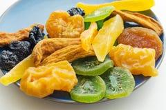 Raccolta secca di frutti tropicali Fotografie Stock