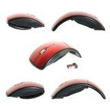 Raccolta senza fili rossa del mouse Immagine Stock