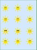 Raccolta sorridente dei soli illustrazione vettoriale