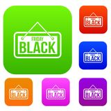 Raccolta stabilita dell'insegna di Black Friday Immagine Stock Libera da Diritti