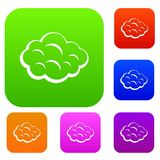 Raccolta stabilita di colore della nuvola di estate Immagine Stock Libera da Diritti
