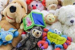 Raccolta sveglia degli animali farciti e dei giocattoli del ` s dei bambini Fotografia Stock