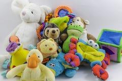Raccolta sveglia degli animali farciti e dei giocattoli del ` s dei bambini Immagine Stock Libera da Diritti