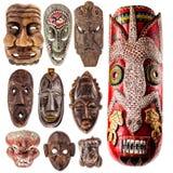 Raccolta tribale della maschera Immagini Stock