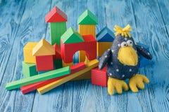 Raccolta variopinta dei giocattoli e della bambola Fotografia Stock
