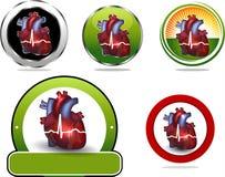 Raccolta variopinta dell'icona del cuore Fotografie Stock Libere da Diritti