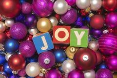 Raccolta variopinta delle palle di Natale utili come modello del fondo Fotografie Stock Libere da Diritti