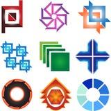 Raccolta variopinta di logo Fotografie Stock